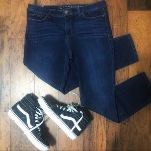 LC Lauren Conrad dark wash denim skinny jeans